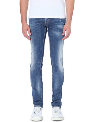 D SQUARED Semi distressed faded jeans