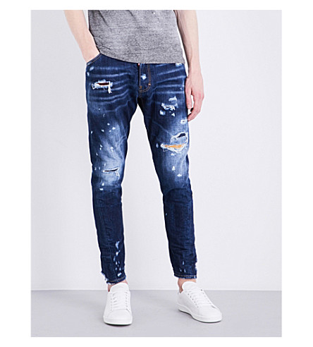 DSQUARED2 Kenny Twist slim-fit tapered jeans (Blue