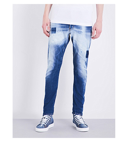 DSQUARED2 Sexy twist slim-fit skinny jeans (Blue