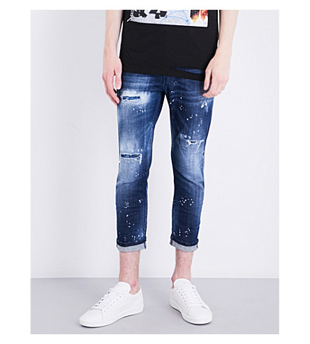 DSQUARED2 Glam Head slim-fit skinny jeans (Blue