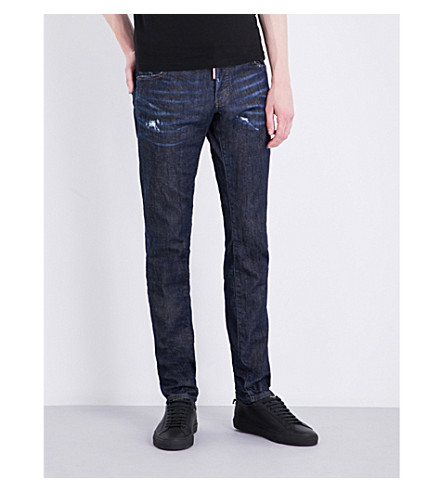 DSQUARED2 Slim-fit tapered jeans (Blue