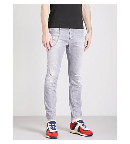 DSQUARED2 Skater Fade slim-fit skinny jeans (Light+grey