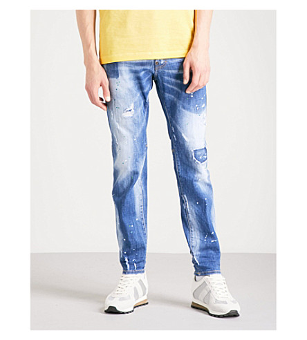 DSQUARED2 City Biker slim-fit skinny jeans (Navy