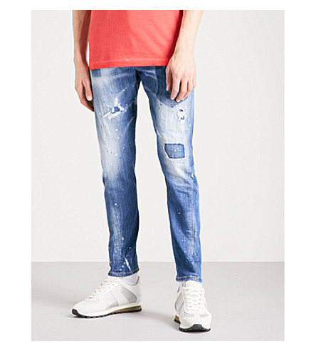 DSQUARED2 Sexy Twist slim-fit skinny jeans (Navy