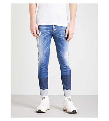 DSQUARED2 Skater Patch slim-fit skinny jeans (Navy