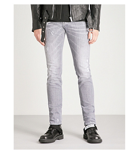 DSQUARED2酷的家伙苗条适合瘦身牛仔裤 (灰色