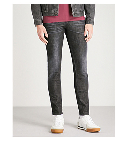 DSQUARED2 Clement regular-fit faded skinny jeans (Black
