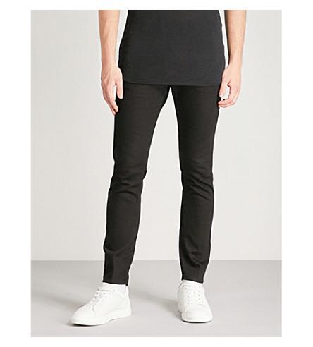 DSQUARED2溜冰瘦身拉链细节紧身牛仔裤 (黑色