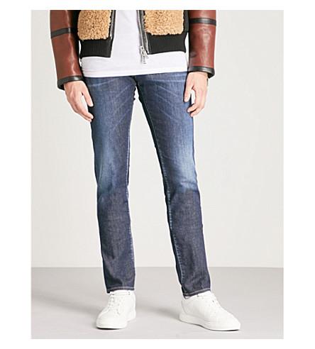 DSQUARED2褪色-洗涤苗条适合瘦身牛仔裤 (蓝色