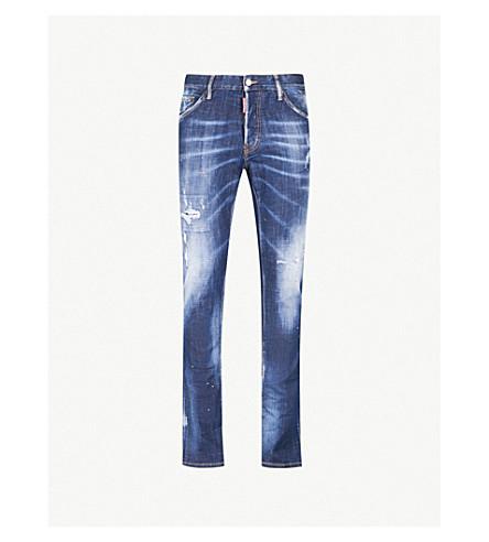 DSQUARED2 酷家伙修身版型紧身牛仔裤 (蓝色