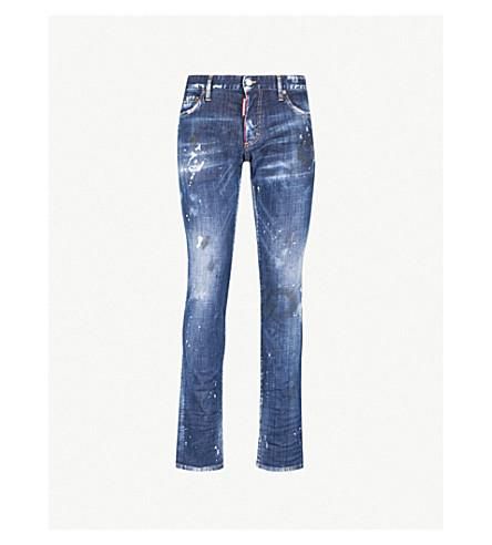 DSQUARED2苗条的梦想苗条适合瘦身牛仔裤 (蓝色