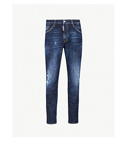 DSQUARED2 Run Dan slim-fit straight jeans (Blue