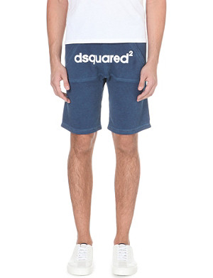D SQUARED Branded cotton-jersey shorts