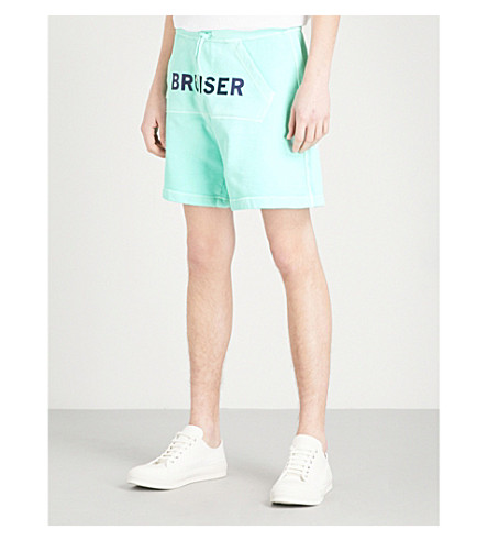 DSQUARED2 Bruiser cotton-blend shorts (Light+turquoise