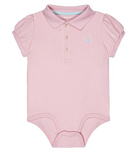 RALPH LAUREN Polo cotton bodysuit 3-12 months (Carmel pink
