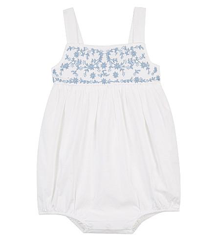 RALPH LAUREN Floral embroidered cotton bodysuit 3-24 months (White
