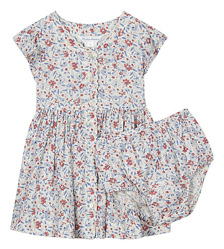 RALPH LAUREN Floral print tea dress & underwear 3-24 months (Cream+pink+mult