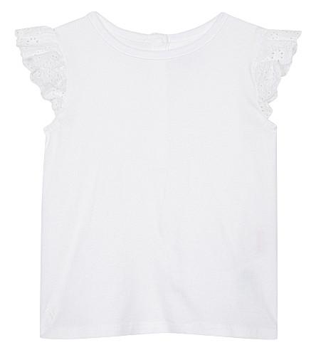 RALPH LAUREN Knitted cotton T-shirt 3-24 months (White