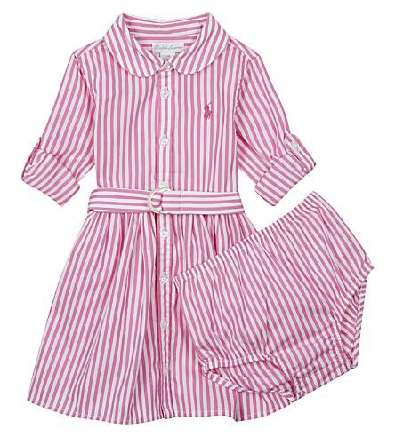 RALPH LAUREN Bengal striped cotton dress 6-24 months (Pink/white