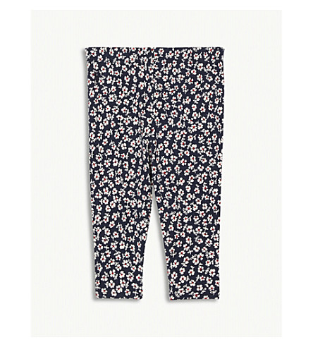 RALPH LAUREN Floral print cotton-blend leggings 3-24 months (Hunter+navy/red+multi