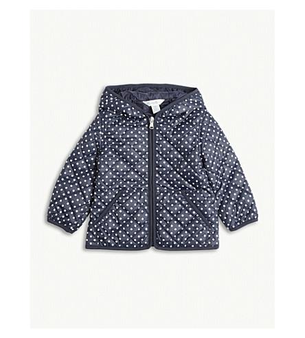 RALPH LAUREN Polka-dot padded jacket 6-24 months (Navy/white