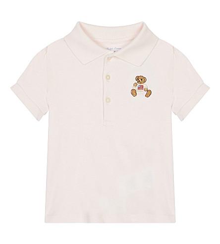 RALPH LAUREN Polo bear cotton top 3-24 months (Delicate+pink