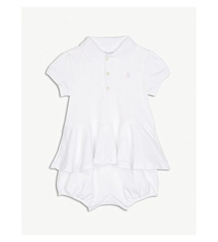 RALPH LAUREN Polo ruffled cotton dress 3-24 months (White