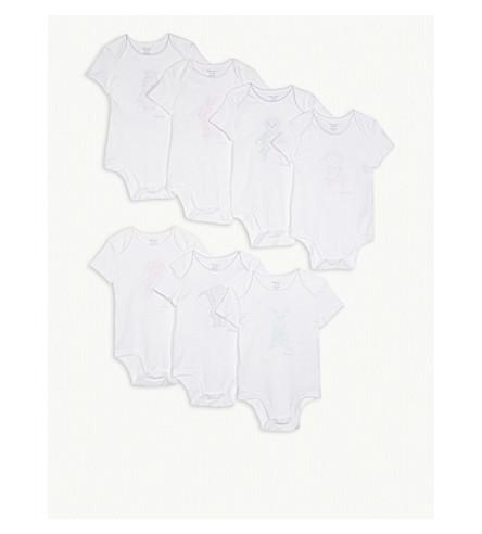 RALPH LAUREN Days-of-the-week cotton bodysuit set 3-12 months (White