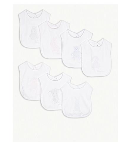 RALPH LAUREN Days-of-the-week cotton bibs set (White