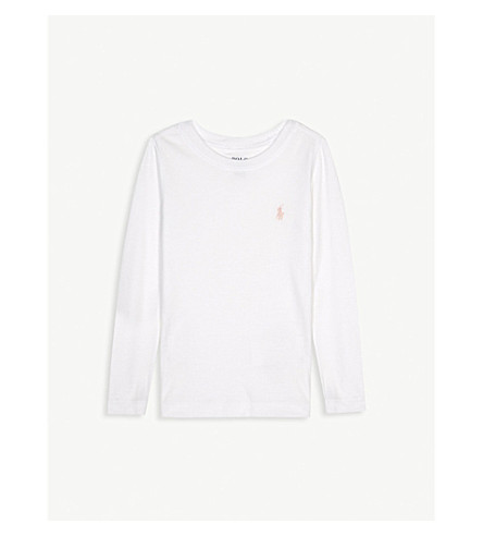 RALPH LAUREN Logo cotton & modal long-sleeved top 2-6 years (White