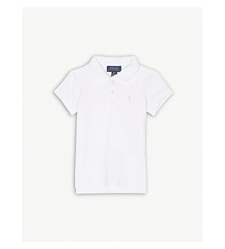 RALPH LAUREN Pony cotton-blend polo shirt 2-4 years (White