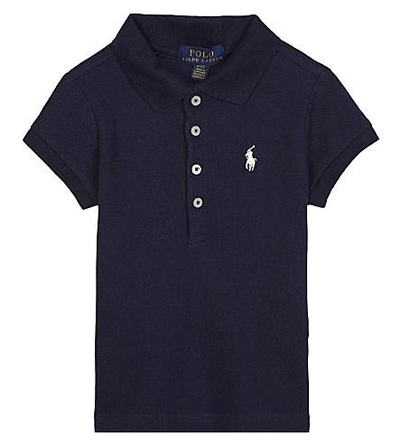 RALPH LAUREN Cotton-blend polo shirt 2-4 years (Navy