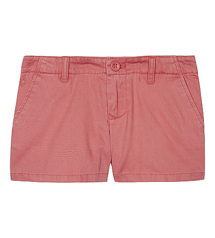 RALPH LAUREN Cotton chino shorts 2-6 years (Salmon+berry