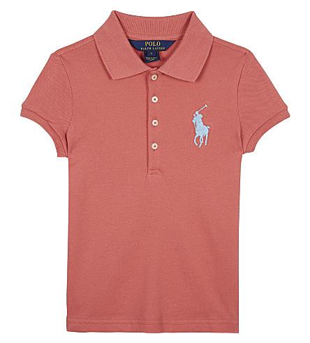 RALPH LAUREN Big Pony piqué cotton polo shirt 2-6 years (Salmon+berry
