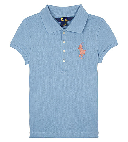 RALPH LAUREN Big Pony piqué cotton polo shirt 2-6 years (Bolivian+blue