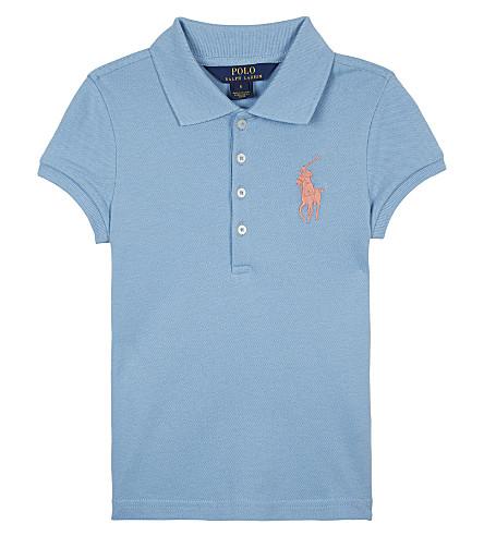 RALPH LAUREN Big Pony piqué cotton polo shirt 2-6 years (Bolivian+blue
