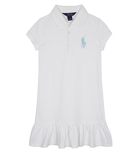 RALPH LAUREN Big Polo Pony cotton-blend dress 2-6 years (White