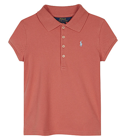 RALPH LAUREN Logo cotton polo shirt 2-6 years (Shrimp