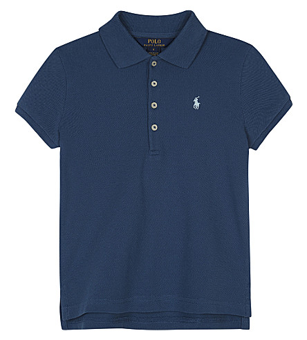 RALPH LAUREN Logo cotton polo shirt 2-6 years (Indigo+blue