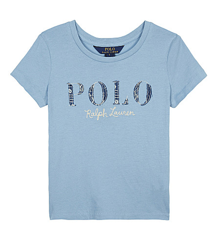 RALPH LAUREN POLO cotton T-shirt 2-6 years (Bolivian+blue