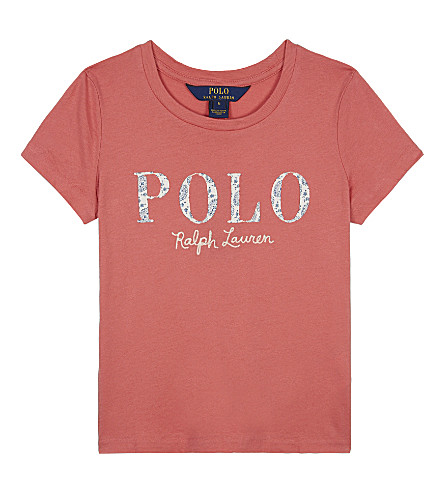 RALPH LAUREN Paisley POLO cotton T-shirt 2-6 years (Salmon+berry