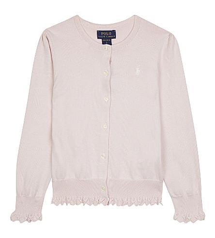 RALPH LAUREN Polo logo cotton cardigan (Powder pink