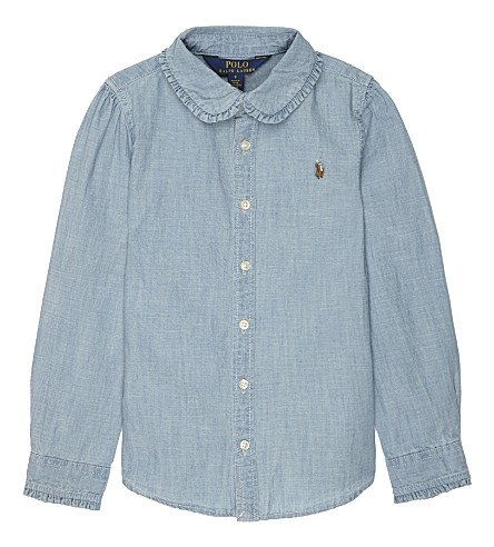 RALPH LAUREN Chambray cotton shirt 2-6 years (Indigo