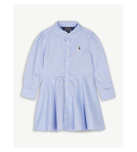 RALPH LAUREN Oxford cotton shirt dress 2-4 years (Blue