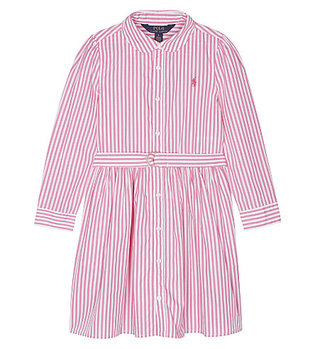 RALPH LAUREN Bengal striped cotton dress 2-6 years (Pink/white