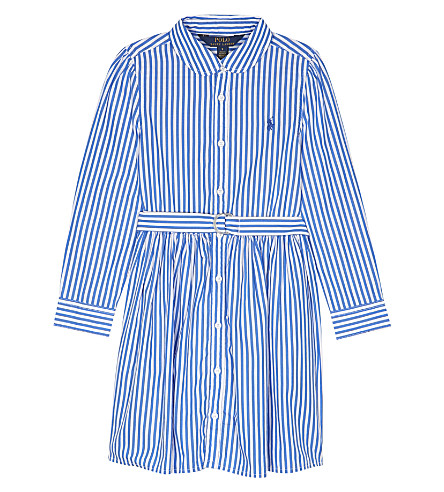RALPH LAUREN Bengal striped cotton dress 2-6 years (Blue/white