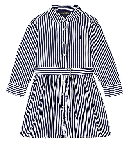RALPH LAUREN Bengal stripe cotton shirt dress 2-4 years (Navy/white
