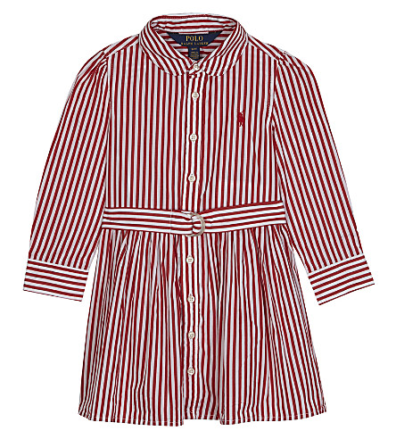 RALPH LAUREN Striped cotton shirt dress 2-4 years (Red/white