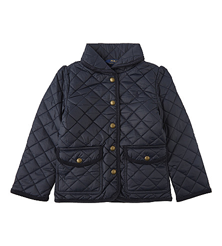 RALPH LAUREN Quilted Barn jacket 2-6 years (Collection+navy