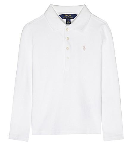 RALPH LAUREN Long-sleeved polo shirt 2-6 years (White